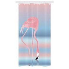 East Urban Home Ambesonne Flamingo Stall Shower Curtain, Illustration Of Royal Flamingo In The Lake Soft Pale With Romantic Colours Art Work, Fabric B Pink Shower Curtains, Shower Liner, High Resolution Picture, Bathroom Accessories, Lava Lamp, Flamingo, Stall Shower, Table Lamp, Color Palettes
