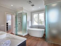 More Good Moulding, And Nice Use Of Wood Floors In Bathroom