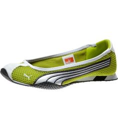 huge discount edf3f c6a9f H-Street Ballerina Flats, bright chartreuse-white-dark shadow - just  bought. Pink Puma ShoesPumas ShoesPuma ...