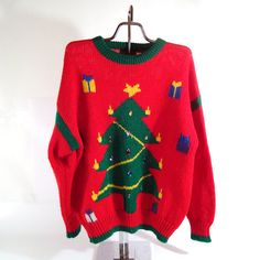 Ugly Christmas Sweater Vintage Tree Holiday by purevintageclothing