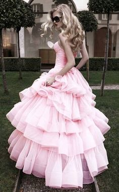 Floor Length Sweetheart Strapless pink Tulle Sheath A-line wedding Dress Pink Wedding Dresses, Prom Dresses, Wedding Gowns, Dress Prom, Dresses 2013, Wedding Bride, Bridal Dresses, Bridesmaid Dresses, Pink Dress