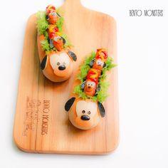 Another version of Tsum Tsum Pluto hotdog. Kawaii Bento, Cute Bento, Cute Food, Good Food, Bento Kids, Recipes With Yeast, Fondant Baby, Sandwiches, Food Crafts