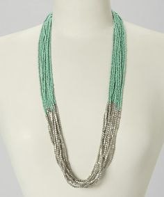 Loving this Mint Seed Bead Necklace on #zulily! #zulilyfinds