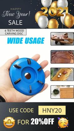 This powerful 6 Teeth Wood Carving Disc is designed to mount on a standard electric angle grinder and provide rapid material removal to save your time and effort, meet your various needs. Currently 50%OFF with Free Shipping!! Only on Neulons.com Woodworking Drill Bits, Woodworking Crafts, Cool Gadgets To Buy, New Gadgets, How To Polish Rocks, Wood Carving Chisels, Deck Repair, Stick Art, Got Wood