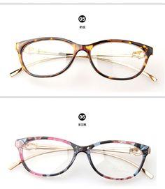 7d7fb4117 New Design Leopard Head Plain Eye glass Men Women Optical Make Myopia  Eyeglasses Frame oculos de grau femininos A0028-in Eyewear Frames from  Men's Clothing ...