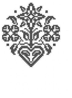 Cross Stitch Flower with Heart Embroidery Design by RBQuery, $2.50