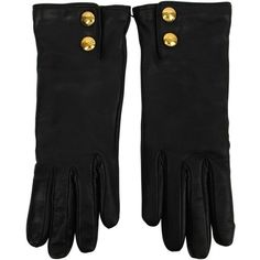 GUCCI Leather Gold Stud Glove ($365) ❤ liked on Polyvore featuring accessories, gloves, black, luvas, gucci gloves, gucci, studded leather gloves, studded gloves and leather gloves