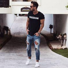 Buy man distressed jeans Asos Zalando, Valentino, Gucci, Margiela catwalk looks…