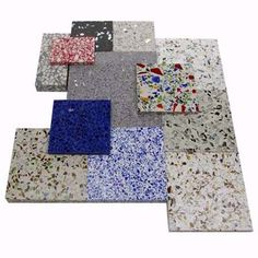 Photo: Hamilton Hendrick EnviroSLAB recycled glass countertops let you coordinate up to 22 epoxy resin base colors with four different kinds of crushed glass to make the terrazzo counter of your dreams. Naturally heat and scratch resistant, this material is also hard to stain. $50 per square foot; Enviroglassproducts.com