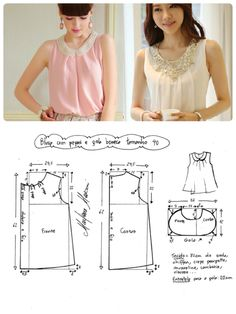 51 Ideas Sewing Patterns Free Clothes Women Tank Tops For 2019 Dress Sewing Patterns, Blouse Patterns, Sewing Patterns Free, Clothing Patterns, Free Clothes, Diy Clothes, Clothes For Women, Sewing Clothes, Apparel Design