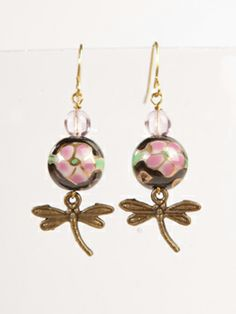 Dragonfly earrings by Storm in a Teacup. £12.50