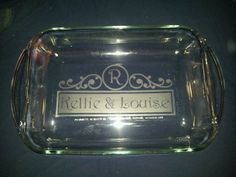 etched glass pyrex dish - Google Search