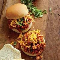 Sloppy Maple-BBQ Turkey Joes -- husband said these were the best Sloppy Joes he's ever had...and he didn't realize they were turkey until after he was done when I told him ;)