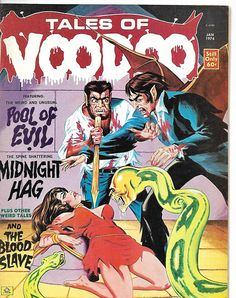 Cover for Tales of Voodoo (Eerie Publications, 1968 series) Scary Comics, Bd Comics, Horror Comics, Pulp Fiction Art, Science Fiction Art, Pulp Art, Caricature, Comic Book Covers, Comic Books