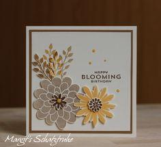 """HAPPY BLOOMING BIRTHDAY - MIT """"FLOWER PATCH"""" VON STAMPIN UP, Flower Fair framelits, photopolymer"""
