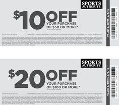 Pinned August 31st: $10 off $50 & more at Sports #Authority ditto online #coupon via The #Coupons App