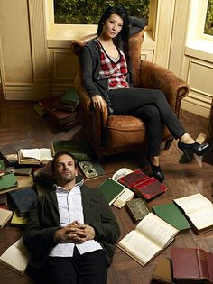 Love Elementary!! These two have great chemistry!!! (AND Jonny Lee Miller was married to Angelina in a former life...)