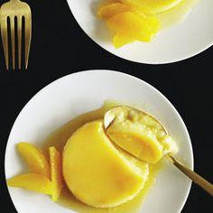 The spanish orange flan or Flan de naranja uses orange juice instead of cream to make an orange flavoured creme brûlée type dish Fat Free and authentic