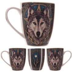 Shop today for Fantasy Wolf Head Design New Bone China Mug by weeabootique !
