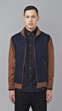 Navy Two Tone Bomber by I Love Ugly