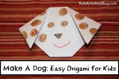 Make a Dog: Easy Origami {Art and Math}