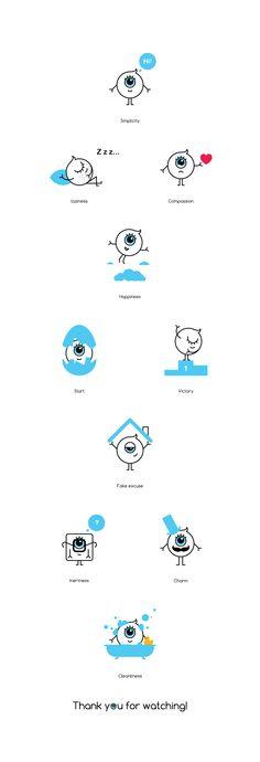 Behance :: Editing Emotions Icon set
