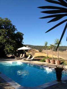 Zwembad op een finca in de de buurt van Ronda, Andalusië