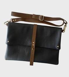 Convertible Leather Foldover Crossbody Bag