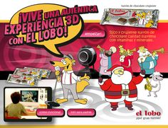 El Lobo Turrones. Campaña para inclusión en packaging. Realidad Virtual. Alicante. 2010.