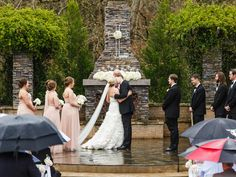 Who lets the rain ruin their wedding day? Not this bride! The Sonnet House | 205 Photography