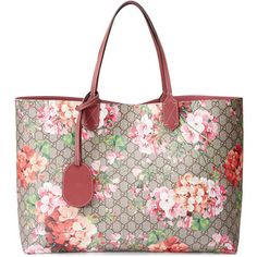 Gucci GG Blooms Large Reversible Leather Tote Bag