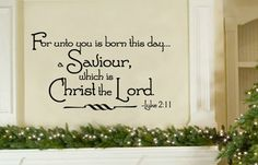 Christmas wall decal (religious)