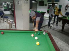 Playing pool with my bro and freinds....