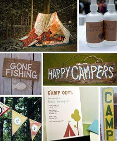 Outdoor camping party decor ideas