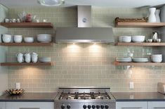 20 Beautiful Kitchens With Floating Shelves http://housely.com/20-beautiful-kitchens-floating-shelves/