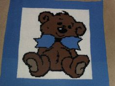 Bow teddy baby blanket #free crochet pattern   T HIS BLOG AND THE POSTINGS ON IT…