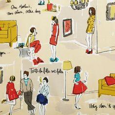kate spade | jessie top // illustration by garance dore