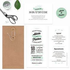 Einladungskarten - Hochzeitseinladung - Alicia - ein Designerstück von bonjourpaper bei DaWanda