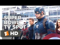 Captain America: Civil War Official Super Bowl TV Spot (2016) - Chris Evans Movie HD - YouTube HOLY SHIT YES!!!!!