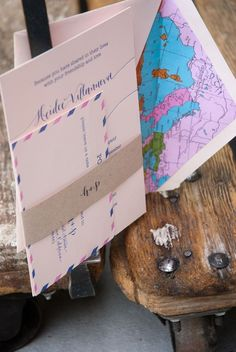 Cute envelope lining- cute airmail invites