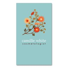 2232 best nature business card templates images on pinterest colorful retro orange and red floral business card colourmoves