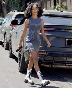 Cool Summer Outfits, Cute Casual Outfits, Skai Jackson, Beautiful Black Women, Style Me, Hair Style, What To Wear, Bodycon Dress, Celebs