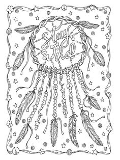 Dream Catcher With Deer Coloring Page 385444801 Shutterstock