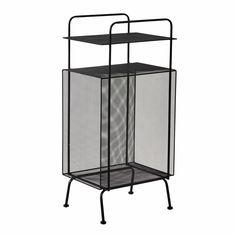 Tavolino da divano nero in metallo L 34 cm OLIVER