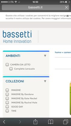 Questo è il sito del Brand dove adoro acquistare la biancheria da camera!amo i loro tessuti e lo stile
