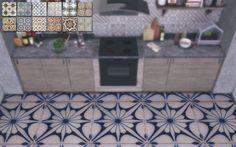 Sims 4 CC's - The Best: Vintage Tile Floors by Novvvas
