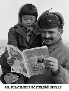 A Turkish Soldier and a little korean girl