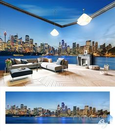 Sydney city Opera house theme space entire room 3D wallpaper wall mural decal IDCQW-000017