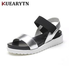 Women's Summer Sandals Shoes Peep-toe Low Shoes Roman Sandals Ladies Flip Flops Description: Vamp Material:Artificial PU Sole Material:Polyurethane(EVA) Color:Silver Black White Pattern:Solid Gender:Women Item Type:Sandals Style:Leisure Heel Type:Low heel (1-3CM) 100% Brand new and high quality Pa