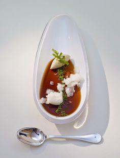 Coke Jelly, Foie Gras and Lemon Granite Recipe by Chef Thomas Bühner at Relais & Châteaux La Vie, Germany.